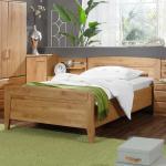 Holzbett aus Erle Teilmassiv ohne Matratze