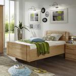 Holzbett mit Komforthöhe Erle