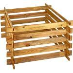 Holzkomposter 100 x 71 x 100cm KDI grün