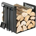 Holzkorb Wood Att (50 x 35 x 49,5 cm, Stahl, Schwarz)