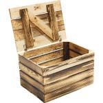 Holztruhe geflammt 50x40x30 cm