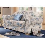 Home affaire 2-Sitzer Amrum, mit Blumenmuster, Federkern blau Sofas Couches Möbel sofort lieferbar