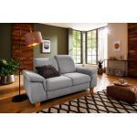 Silberne Moderne Home Affaire Zweisitzer-Sofas mit Armlehne Breite 150-200cm, Höhe 50-100cm, Tiefe 50-100cm für 2 Personen