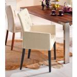 Home affaire Armlehnstuhl »Colorado« (1 Stück), Beine aus massiver Buche, wengefarben lackiert, weiß, Polyester, beige