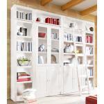 Home affaire Bücherwand »Bergen«, aus massivem schönen Kiefernholz, Breite 255 cm, weiß, weiß