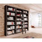 Home affaire Bücherwand »Bergen«, aus schönem massivem Kiefernholz, 3 tlg., braun, dunkelbraun