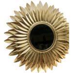 Home affaire Dekospiegel Blumen gold, Wanddeko goldfarben Spiegel Garderoben