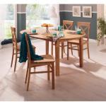 Beige Moderne Home Affaire Bio Esstische & Esszimmertische Durchmesser 120 cm aus Massivholz ausziehbar