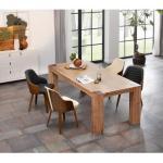 Reduzierte Beige Moderne Home Affaire Esstische & Esszimmertische aus Akazie Breite 200-250cm, Höhe 200-250cm, Tiefe 200-250cm
