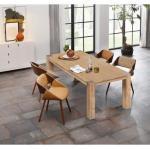 Beige Moderne Home Affaire Küchenmöbel aus Akazie Breite 200-250cm, Höhe 200-250cm, Tiefe 200-250cm
