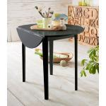 Home affaire Esstisch, mit abklappbaren Seitenteilen, in zwei verschiedenen Farbvarianten, Höhe 77 cm, schwarz, schwarz