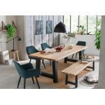 Beige Moderne Home Affaire Esstische & Esszimmertische geölt aus Massivholz Breite 100-150cm, Höhe 100-150cm, Tiefe 100-150cm
