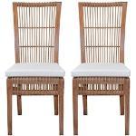 Home affaire Rattanstuhl, Handarbeit aus Rattan (2er-Set) braun Rattanstuhl 4-Fuß-Stühle Stühle Sitzbänke