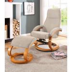 Home affaire Relaxsessel »Paris« (2-St., bestehend aus Sessel und Hocker), in unterschiedlichen Bezugs- und Farbvarianten, Sitzhöhe 46 cm, beige