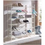 Home affaire Schuhregal Princess, (3 St., bestehend aus 3 Regalen), 3er Set, Platz für ca. 24-30 Paar Schuhe (ohne Absatz), Höhe 120 cm weiß Schuhregale Schuhschränke Garderoben