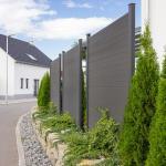 Home Deluxe WPC Sichtschutzzaun - 4x Element + 5x Pfosten