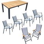 """Home Islands Gartenmöbel-Set mit Stuhl """"Yuri"""" und Tisch """"Sumatra"""" teakholz-armlehne"""