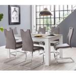 Homexperts Essgruppe Zabona, (Set, 5 tlg.), 4 Stühle und 1 Tisch TOPSELLER grau Essgruppen Tische