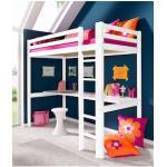 Hoppekids Hochbett Flower Power, inkl. farbiger Matratze und Rollrost weiß Kinder Hochbetten Kinderbetten Betten