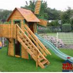 HOQ Premium Spielturm Windmühle Don Quichotte Keine Rutschbahn Treppe Nein