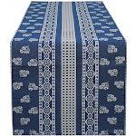 HOSSNER - HOMECOLLECTION Tischläufer Nigel, (1 St.) blau Tischwäsche