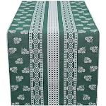 HOSSNER - HOMECOLLECTION Tischläufer Nigel, (1 St.) grün Tischwäsche