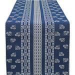 HOSSNER - HOMECOLLECTION Tischläufer »Nigel« (1-tlg), blau, blau-natur
