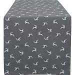 HOSSNER - HOMECOLLECTION Tischläufer »Sprunghirsch« (1-tlg), grau, grau-beige