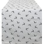 HOSSNER - HOMECOLLECTION Tischläufer »Sprunghirsch« (1-tlg), weiß, beige-grau