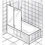 HSK K2P Badewannenaufsatz 1 Nebenteil und 1 bewegliches Element Sondermaß links 2106555-41-100edelglas-links