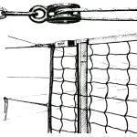 Huck Volleyball-Turniernetz DVV 1 mit Umlenkrolle