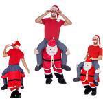 Huckepack Kostüm - Mann auf Weihnachtsmann - Wilbers Gr. M/L - Hucke Pack Huckepack