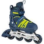 Blaue Hudora Softboot Skates
