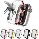 Hüllen Für Apple iWatch Apple Watch Serie 7 / SE / 6/5/4/3/2/1 / Apple Watch Series SE / 6/5/4/3/2/1 Gehärtetes Glas / PU Displayschutzfolie Smartwatch Hülle Kompatibilität 38mm 42mm 40mm 44mm Lightinthebox