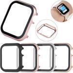 Hüllen Für Apple iWatch Apple Watch Serie 7 / SE / 6/5/4/3/2/1 / Apple Watch Series SE / 6/5/4/3/2/1 Metall Displayschutzfolie Smartwatch Hülle Kompatibilität 38mm 42mm 40mm 44mm Lightinthebox