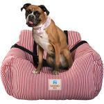 Hunde Autositz, Waschbar Auto Hundebett, Rutschfeste Katze Reisen Front Booster Sitze mit Abnehmbare HundeKissen (Blau)