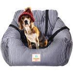 Hunde Autositz, Waschbar Auto Hundebett, Rutschfeste Katze Reisen Front Booster Sitze mit Abnehmbare HundeKissen (kaffeebraun)
