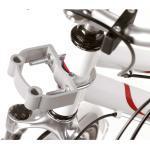 Hunde Fahrradkorb extra hoch für E-Bikes, 53 x 40 x 25/46 cm - inklusive Halterung, weiß
