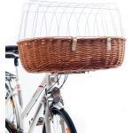 Hunde Fahrradkorb hoch für E-Bike, XL: 68 x 46 x 18/40 cm, natur