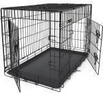HundeKäfig 2 Türen Gitterbox Hundetransportbox Drahtkäfig faltbar Metall PPD42H