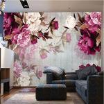 Hwhz Tapete der Wand 3d abziehbar Fototapete Modernes Wohnzimmer Tv Hintergrundbild Romantische Rose Blume Vliestapete Für Schlafzimmerwände 3D-350X250Cm