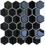 HyFanStr Peel and Stick Wandfliesen Backsplash für Küche, selbstklebende 3D-Fliesenaufkleber für Badezimmer, schwarze U-Bahnfliesen zum Aufkleben (4 Stück)