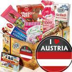 I love Austria - Geschenke Österreich - Ostalgie Süßigkeiten Set