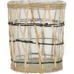 Ib Laursen Windlicht mit Bambusgeflecht - Mittel