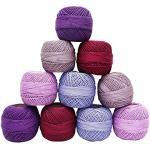 IBA Indianbeautifulart Multicolor mercerisierte Baumwolle 10 Stück Häkelgarn Tatting Skein Stickgarn