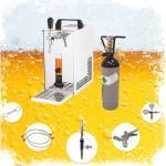 ich-zapfe Bierzapfanlage Guinness Zapfanlage - Komplett Set - Bierkoffer, Durchlaufkühler PYGMY 25 1-leitig Trockenkühler, 35 Liter/h