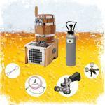 ich-zapfe Bierzapfanlage Komplett Set - Soudek 20, Trockenkühlgerät Bierfass Optik, Bierkühler, Zapfanlage, 1-leitig, 20 Liter/h, Green Line