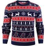 Rundhals-Ausschnitt Weihnachtspullover zu Weihnachten für Herren