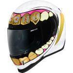 Icon Airform Grillz Helm, weiss-gold, Größe XL, weiss-gold, Größe XL