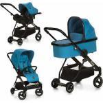 iCoo Kombi-Kinderwagen Acrobat XL Plus Trio Set Diamond Saphire, 15 kg blau Kinder Kombikinderwagen Kinderwagen Buggies